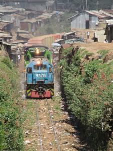 Zug in Kibera